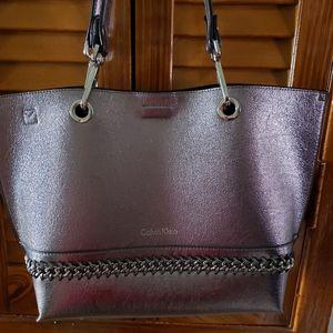 Calvin Klein Silver Metallic Bag